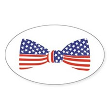 Bow Tie - USA Oval Decal