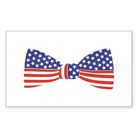 Bow Tie - USA Rectangle Sticker
