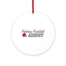 Fantasy Football Addict Ornament (Round)