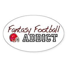 Fantasy Football Addict Oval Decal