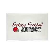 Fantasy Football Addict Rectangle Magnet