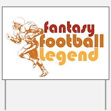 Retro Fantasy Football Legend Yard Sign