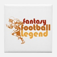 Retro Fantasy Football Legend Tile Coaster