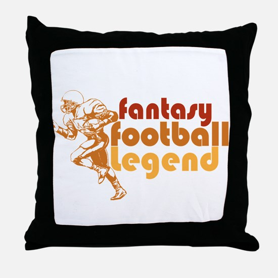 Retro Fantasy Football Legend Throw Pillow