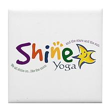 Cute Yoga kids Tile Coaster