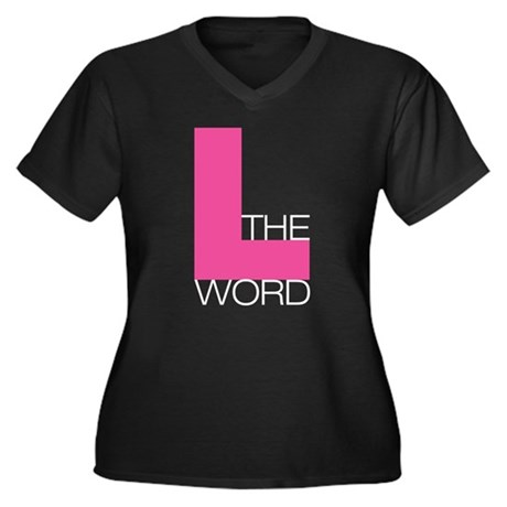 The L Word Women's Plus Size V-Neck Dark T-Shirt