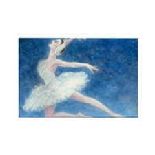 Swan Lake Ballet Rectangle Magnet