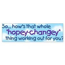 Hopey Changey Bumper Bumper Sticker
