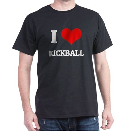I Love Kickball Black T-Shirt