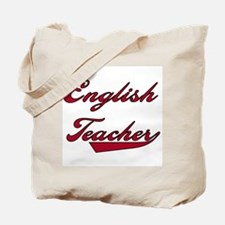 English Teacher Red Text Tote Bag