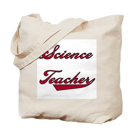 Science Teacher Red Text Tote Bag