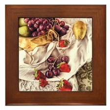 Berries & Pears Framed Tile