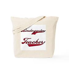Kindergarten Teacher Red Text Tote Bag