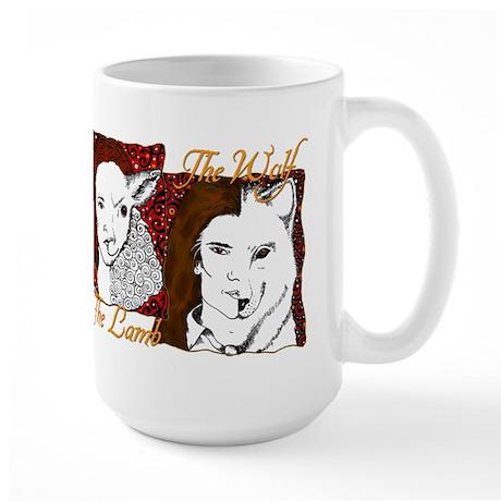 Twilight Lion, Lamb & Wolf Large Mug