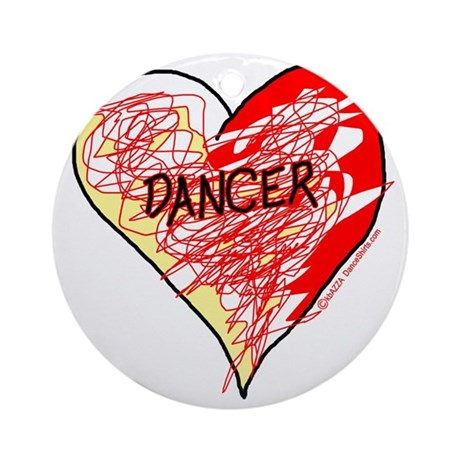 Dancer Love Scribbles Ornament (Round)