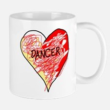 Dancer Love Scribbles Small Small Mug