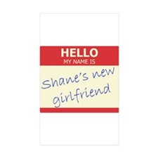 Shane's New Girlfriend Rectangle Sticker 10 pk)