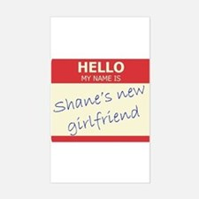 Shane's New Girlfriend Rectangle Decal