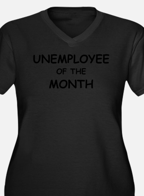 unemployee of the month Women's Plus Size V-Neck D