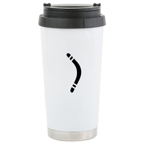 boomerang icon Stainless Steel Travel Mug
