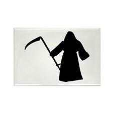 grim reaper Rectangle Magnet