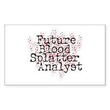 Blood Splatter Analyst (Dexter) Rectangle Decal