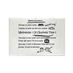 Business Time Weekly Schedule Rectangle Magnet (10