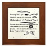 Business Time Weekly Schedule Framed Tile