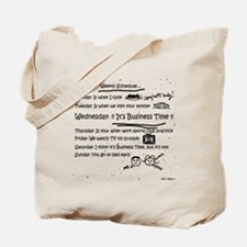 Business Time Weekly Schedule Tote Bag