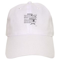 Business Time Weekly Schedule Baseball Cap