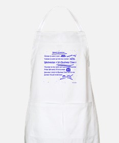Business Time Weekly Schedule BBQ Apron