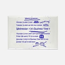 Business Time Weekly Schedule Rectangle Magnet