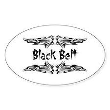 Martial Arts Black Belt Oval Decal