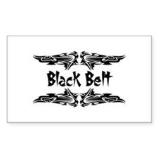 Martial Arts Black Belt Rectangle Decal