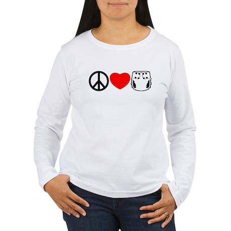 Peace, Love, Cloth Women's Long Sleeve T-Shirt