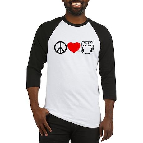 Peace, Love, Cloth Baseball Jersey