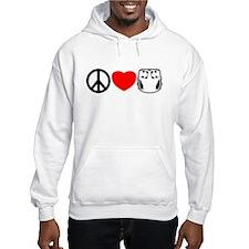 Peace, Love, Cloth Hoodie