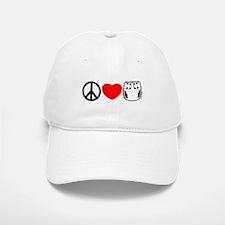 Peace, Love, Cloth Baseball Baseball Cap
