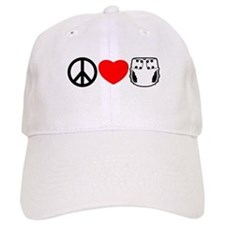Peace, Love, Cloth Baseball Cap