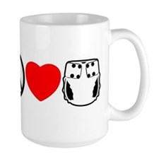 Peace, Love, Cloth Mug