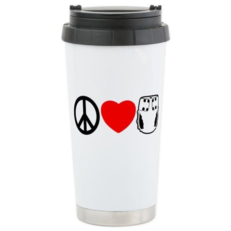 Peace, Love, Cloth Stainless Steel Travel Mug