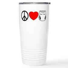 Peace, Love, Cloth Travel Coffee Mug