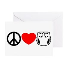 Peace, Love, Cloth Greeting Cards (Pk of 20)
