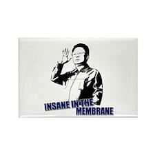 Kim Jong Il Insane Rectangle Magnet