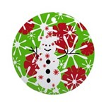 Snowman Christmas Ornament (Round)