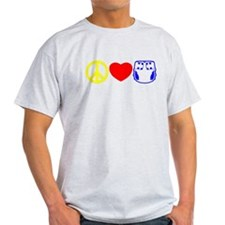 Peace, Love, Cloth Primary T-Shirt