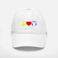 Peace, Love, Cloth Primary Baseball Baseball Cap