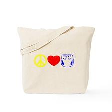 Peace, Love, Cloth Primary Tote Bag