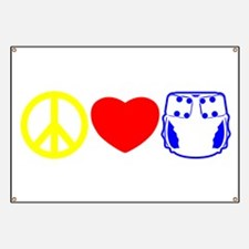 Peace, Love, Cloth Primary Banner