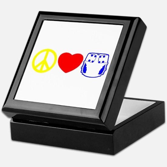 Peace, Love, Cloth Primary Keepsake Box